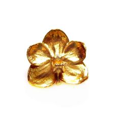 Vintage Flower Brooch, Signed Gold Dipped Pin / Pendant