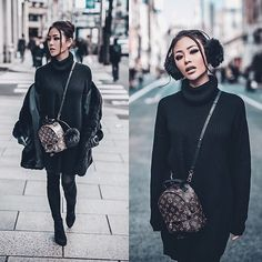 Get this look: More looks by Joanna Aoran: lb.nu/jojochambor…: The Louis Vuitton label was founded by Vuitton in Mochila Louis Vuitton, Louis Vuitton Rucksack, Louis Vuitton Handbags, Palm Springs Mini Backpack, Fashion Bags, Womens Fashion, Fashion Trends, Sacs Louis Vuiton, Backpack Outfit