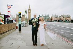 Bride and Groom from a Colourful Wedding At The Asylum, London | Photography by http://www.davidjenkinsphotography.com/