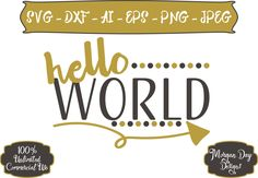Hello World I'm New Here SVG - Hello World SVG - Baby SVG - Arrow svg - Mom svg - Files for Silhouette Studio/Cricut Design Space by MorganDayDesigns on Etsy