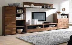Afbeeldingsresultaat voor houten tv wandmeubel