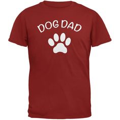 Father's Day Dog Dad Black Adult T-Shirt