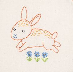 Join me (Alyssa) for a Bunny LIVE Stitch Along Monday April 3 - Friday April 7, 2017. 7pm Central time. Live videos will take place on the Penguin & Fish Bunny LIVE Stitch Along Facebook group: https://www.facebook.com/groups/bunnystitchalong The Bunny hand embroidery would be adorable in a baby quilt, as a cut handmade patch, or a lovely wall hanging in a nursery. The pattern includes instructions for stitching either a blue or pink bunny. This listing is for a...
