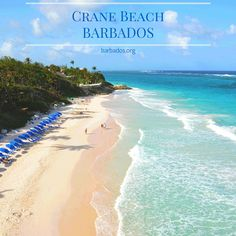 The spectacular Crane Beach with it's pink-tinged sands, on the south-east coast of #Barbados!