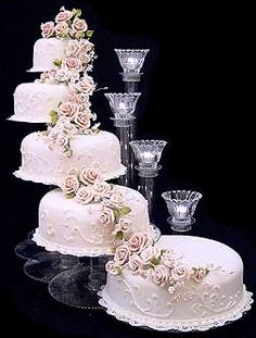 Tier Cascading Wedding Cake Stand Stands Tier Candle Stand