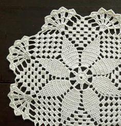 Cream round crochet handmade doily No.57 | Etsy