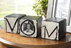 One idea that would make a great gift is these Mom Wood Blocks.
