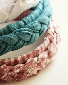 3 upcycle t-shirt crafts- DIY braided headbands
