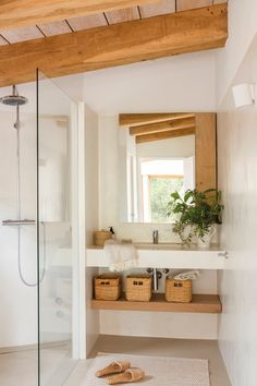 White Bathroom, Small Bathroom, Diy Bedroom Decor, Diy Home Decor, Bathroom Interior Design, Bathroom Designs, Bathroom Inspiration, New Homes, Ideas Para