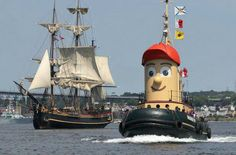 HMS Bounty & Theodore Tugboat, Halifax Harbour.