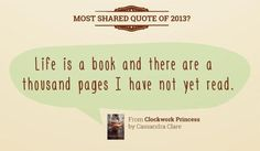 'Clockwork Princess' quote was the Most Shared Quote of 2013 on Goodreads