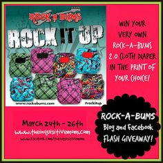 Rock-a-Bums Cloth Diaper Flash Giveaway! #rockitup