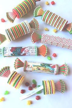 These cookies tubes are filled with New Year's messages and candies. From Julia M. Usher.