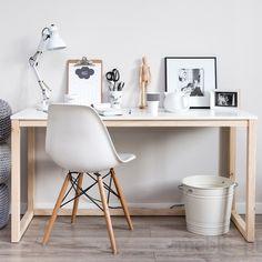 Minimalistyczne biurko DES3, Meble Skandynawskie - Meble