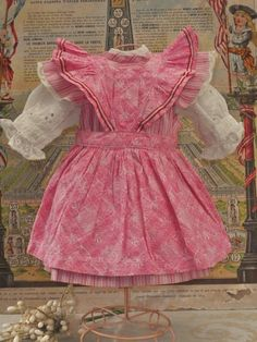 ~~~ Lovely Jumeau Three Piece Cotton Outfit from Trunk on Attic Found from whendreamscometrue on Ruby Lane