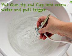 How to clean an Airbrush Gun