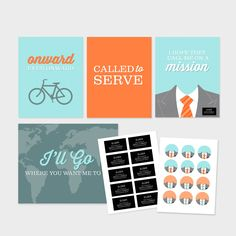 LDS Missionary (Farewell, Homecoming, Mission Call Opening) Printables. $12.00, via Etsy.