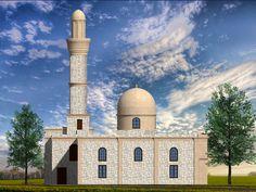 Курсовая работа. Проект реставрации Ага мечети в Нардаране, фасад после рестоврации.