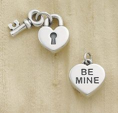 """My Heart is Yours Charm and """"Be Mine"""" Heart Charm #jamesavery #jewelry"""