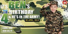 Birthday Tarpaulin Army Theme Template