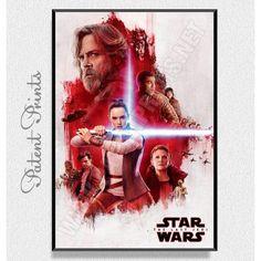 Тhe Last Jedi Star Wars Poster Star Wars Prints, Star Wars Poster, Star Wars Tshirt, Last Jedi, Stars, Movies, Movie Posters, T Shirt, Supreme T Shirt
