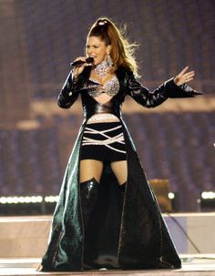 A look back at the 29 best fashion moments from the Super Bowl Halftime Shows: Shania Twain