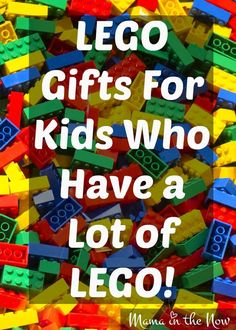 LEGO gifts for kids who have a lot of LEGO. A mother of four LEGO-loving boys… Birthday Wishes For Kids, Birthday Gifts, Lego Birthday, Birthday Board, Birthday Nails, Birthday Ideas, Birthday Parties, Happy Birthday, Birthday Cake
