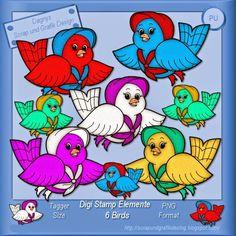 Dagny`s Scrap und Grafik Design: Digi Stamp Elemente Bird