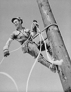 oooold photo of a power lineman :)