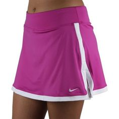 NIKE BORDER SKIRT (WOMENS) - L by Nike. $43.98. Dri-FIT jersey knit tennis skirt. Waistband has power mesh inside for a smooth and supportive fit. Internal Dri-FIT jersey shorts allows for full range of motion, ball storage and coverage. Contrast color border detail is bold and stylish. Hem vents at the sides enhance mobility and ventilation. Skirt is 34cm in length. Woven Tennis Court label on the upper right side panel. Swoosh design trademark embroidered on the lower l...