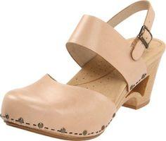 Dansko Women's Thea Ankle-Strap Clog,Natural,