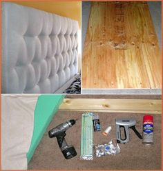 Diy headboard | This is how I actually wanted ours to be... But I guess it's fine anyway. For next time! :)