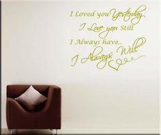decorazioni adesive murali frase i love you