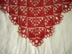 """English Crystal"" shawl: corner, via Flickr."
