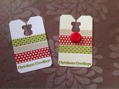 Kaseycreations, Stampin' Up Christmas tags, Washi tape Chalk Talk by Kerry Crocker