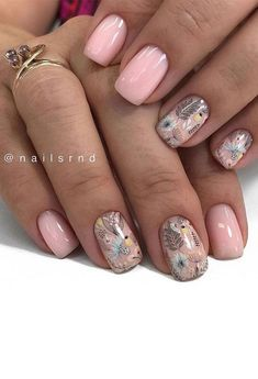 Cute Nail Art Design Ideas With Pretty & Creative Details : Pretty in flower nails
