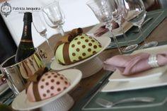 Mesa decorada para páscoa por Patricia Junqueira {Home, Receber & Baby} com coelhos da páscoa