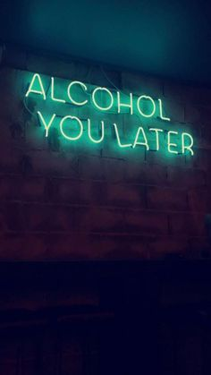 We're Neon Sign lovers here. Like good design? Get your fill at Referential Treatment. See more neon lights, led lights, el wire lights like this on this board. Neon Aesthetic, Quote Aesthetic, Alcohol Aesthetic, Music Aesthetic, Neon Quotes, Funny Quotes, Life Quotes, Idgaf Quotes, Drunk Quotes