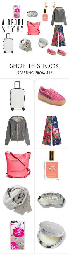 """""""Airport style: cozy"""" by micettes on Polyvore featuring moda, CalPak, Puma, Burberry, House of Holland, Delvaux, Anese, Brunello Cucinelli, Casetify e Cartier"""