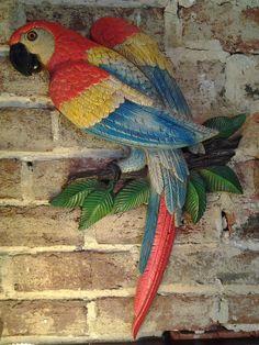 Vintage+Retro+Burwood+Parrot+Wall+Hanging1980+by+BentleyandMurray,+$43.00
