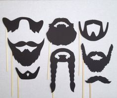8 Beards Photo Booth Props Wedding Photo Booth by CleverMarten