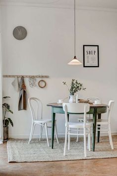 Scandinavian Dining Room Design: Ideas & Inspiration - Di Home Design Dining Room Inspiration, Home Decor Inspiration, Dining Room Design, Dining Rooms, Dining Area, Country Decor, Country Style, Home And Living, Room Decor