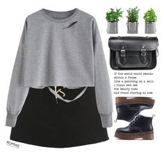 """#Romwe"" by credentovideos ❤ liked on Polyvore featuring The Cambridge Satchel Company"