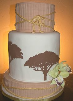 Safari Wedding Cake by Kickass Kakes