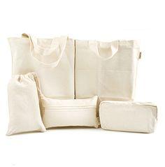 Diy Blank Plain Cotton Canvas Pencil Case/Pouch/Eco Tote Bag Apply Dye Craft