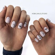 ideas manicure pedicure designs classy for 2019 Classy Nails, Stylish Nails, Simple Nails, Cute Nails, Evil Eye Nails, Lines On Nails, Manicure E Pedicure, Pretty Nail Art, Minimalist Nails
