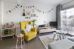 Alida and Alex's apartment is best described as an adorable pastel nook.