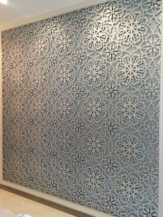 floral cnc cut on wood with mirror and glass - Google Search