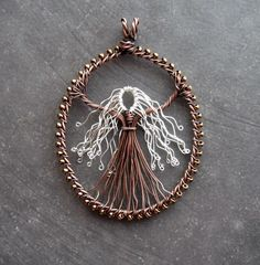wire wrap jewelry Goddess/tree of life wire wrapped jewelry Silver-haired Goddess (commission) Wire Pendant, Wire Wrapped Pendant, Wire Wrapped Jewelry, Metal Jewelry, Pendant Jewelry, Beaded Jewelry, Handmade Jewelry, Handmade Silver, Steam Punk Jewelry