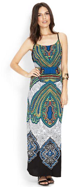 LOVE21 LOVE 21 Vibrant Strappy Maxi Dress